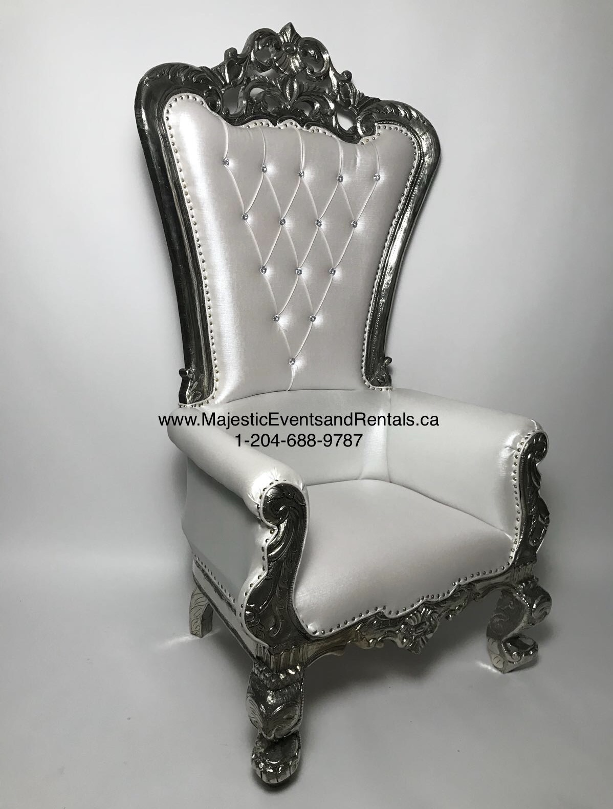 Antiqued SILVER Throne Chairs